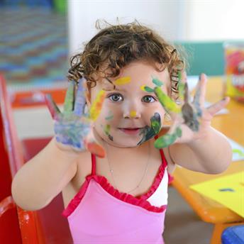 Nursery children playing